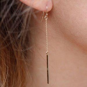 Jewelry - Long gold toned drop earrings